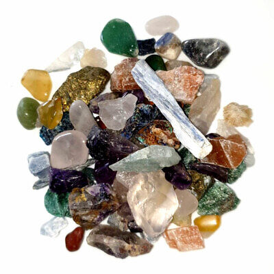 Mixed Gemstones Tumble Stones Crystal Chip Chippings for crafts 2-5MM 100g