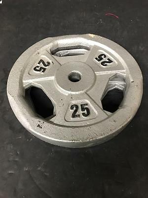 Two 25 Pound Standard Weight Plates