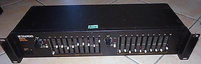 TAPCO EV 2210 GRAPHIC EQUALIZER - Stereo 10 Band Rack (B00047)
