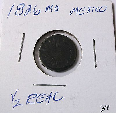 1826 Mexico 1/2 Real