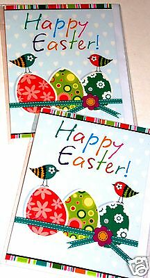 QUALITY EASTER CARDS x 12, JUST 20p, WRAPPED, 130mm x 100mm, HEAVY BOARD, (G115