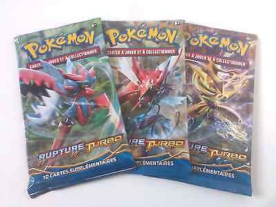 Lot 3 Boosters Pokemon Rupture Turbo Neufs Version FR