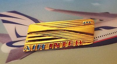 Air Inter Hostess Cabin Crew Insignia Wing French Airlines Airways 3 Dashes