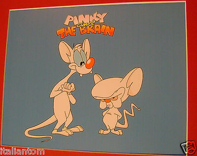 Pinky And The Brain Matted Cel Cell Animation Art