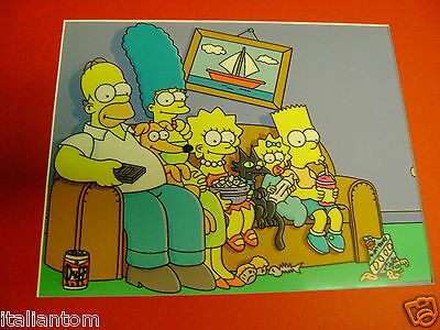 Matted The Simpsons Simpson Couch Gag Homer Bart Cel Animation Art Cell