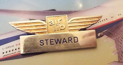 Air Liberté Steward Hostess Cabin Crew Insignia Wing French Airlines Airways