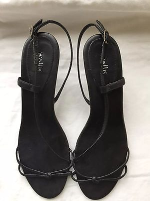 Wallis black leather sandals, size 6