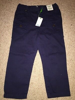 Boys Navy Chino Style Trousers
