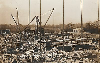 RP Postcard. Construction of New Church, COPPULL. Chorley. Posted in 1911.