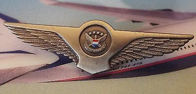 United Airlines Cabin Crew Wing Insignia 1990-2013  1-9 Years -Airways Badge Pin