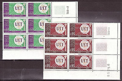 Algerien - 1965 Telecommunication UIT, set of 2, 6x, **/mnh