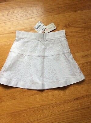 NWT janie and jack Toddler Girl Floral White Skirt, size 4
