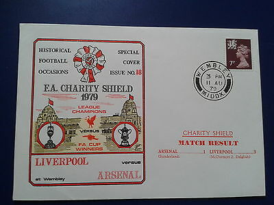 ARSENAL v LIVERPOOL 1979 FA CHARITY SHIELD Special Cover Issue no.18