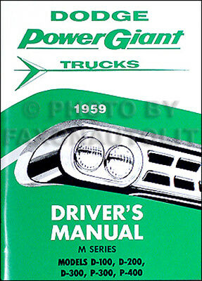 1974 Dodge Truck Owners Manual 74 Pickup Power Wagon Van W B and D 100-300