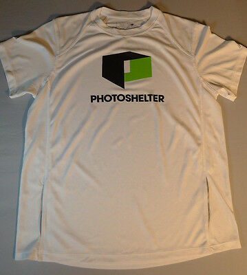 Mens New Balance White Lightning Dry Performance Short Sleeve Running T Shirt L