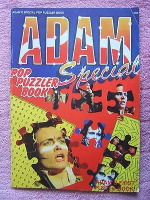 ADAM AND THE ANTS very rare POP PUZZLER MAGAZINE vintage music PICTURES unused