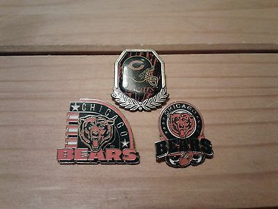 X3 CHICAGO BEARS BADGES By Peter David/Wincraft Inc.