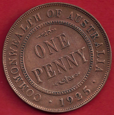 Australia 1925 Bronze King George V 1d One Penny 6 Pearls and the Centre Diamond