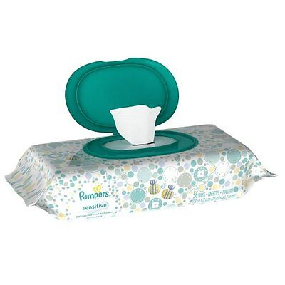 Pampers Baby Wipes Sensitive 1X, 56 Count