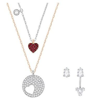 c15aae489 Crystal Wishes Set, Red Heart Earring Pendant Set 2017 Swarovski Jewelry  5291089