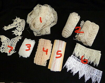 FOUND ASSORTED VINTAGE LACE FOR YOUR CRAFT OR SEWING PROJECTS - Itemized