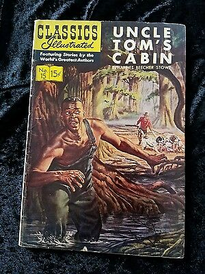 CLASSICS ILLUSTRATED  #15 Uncle Tom's Cabin