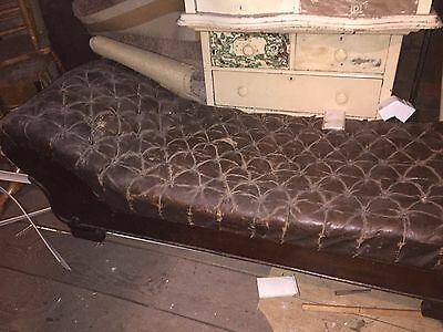 Antique Leather Fainting Couch