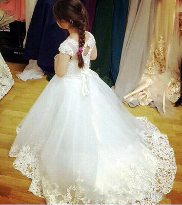 Flower Girl Dress Communion Pageant Easter Graduation Bridesmaid Wedding Dress+
