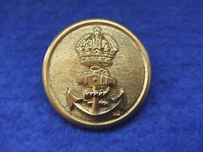 Wwi Large Royal Navy 29Mm Officers Gilt On Brass Button, Kc, Wm Dowler & Sons