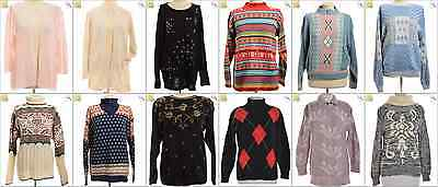 JOB LOT OF 18 VINTAGE MIXED KNITS - Mix of Era's, styles and sizes (21206)