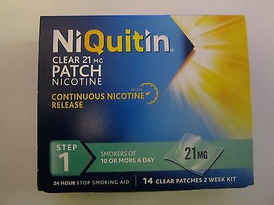 NiQuitin patches step 1- 14 clear patches  (2 weeks kit)