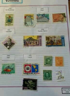 Venezuela stamps 1882 to 1973. 3 pages of stamps