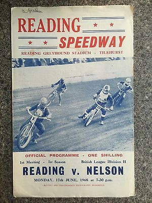 Speedway programme Reading 1st ever meeting