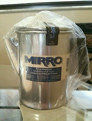 Vintage Mirro 9-Cup Range Top Coffee Percolator-Camping, Travel-Aluminum-New!