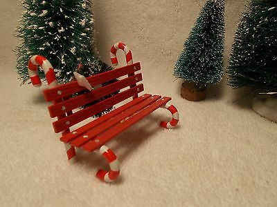 "Dept 56 Gen. Village Accessory ""candy Cane Bench"" Item 52669"