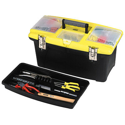 """Stanley 1-92-906 Jumbo Toolbox 19"""" 1-92-906 With Tote Tray"""