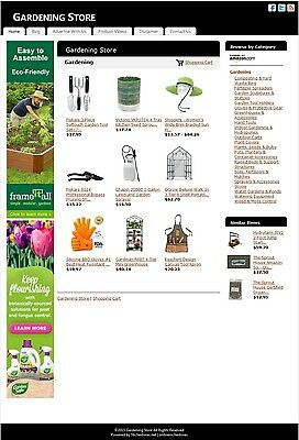 Gardening Store -Established Affiliate Website Business