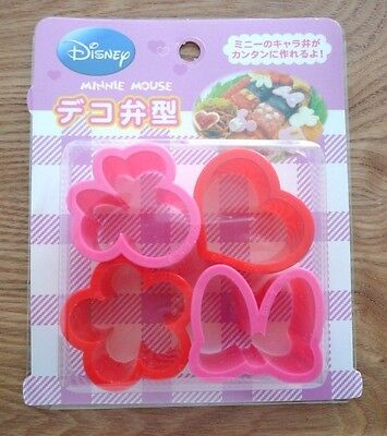 Disney Minnie Mouse Cookie Ham Cheese Cutter Mold punching 4pcs BENTO