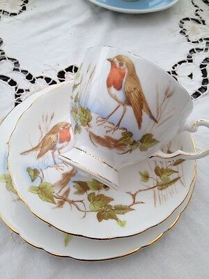 "Tuscan Bone China Trio ""robin Redbreast """