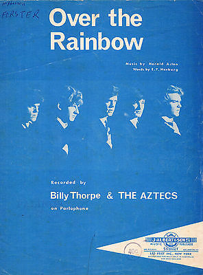 OVER THE RAINBOW Recorded by BILLY THORPE & THE AZTECS VINTAGE SHEET MUSIC