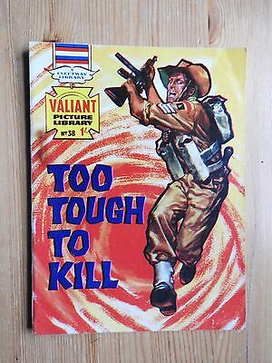 Valiant Picture Library #38 - Too Tough to Kill VG+ Fleetway