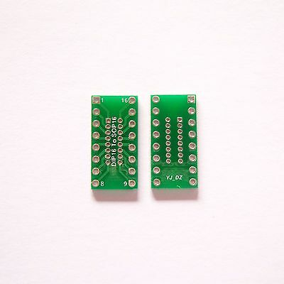 10 PCS DIP 16 Pin 1.27mm to DIP 2.54mm and SOP16 Adapter PCB Board Converter B28