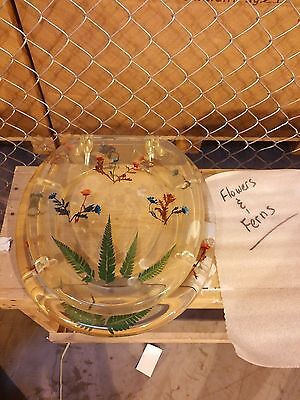 Transparent Flowers and Ferns Standard Size Toilet Seat with Cove -  Acrylic