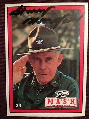 Harry Morgan MASH Autographed Signed Trading Card