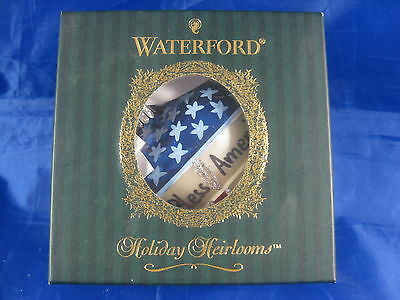 Waterford Holiday Heirlooms Keepsake Mouth Blown Hand Decorated Ornament
