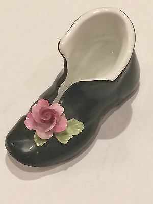 Cara - China Black Boot With Rose On Toe
