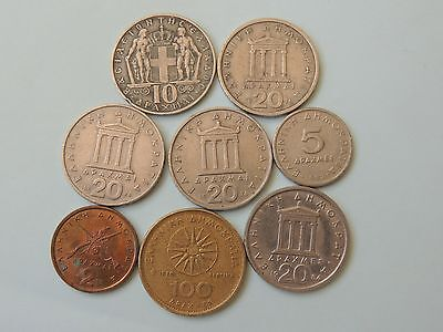 COLLECTION OF GREEK / GREECE COINS - Ref 40