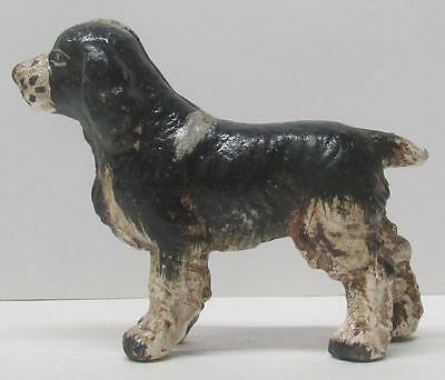 Vintage Hubley Brittany Spaniel Cast Iron Paperweight
