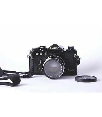 Canon F1 film camera with Fl lens 50mm f/1.4. Nice