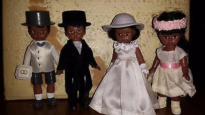 Madame alexander African American Bride Groom Flower Girl and Ring Carrier